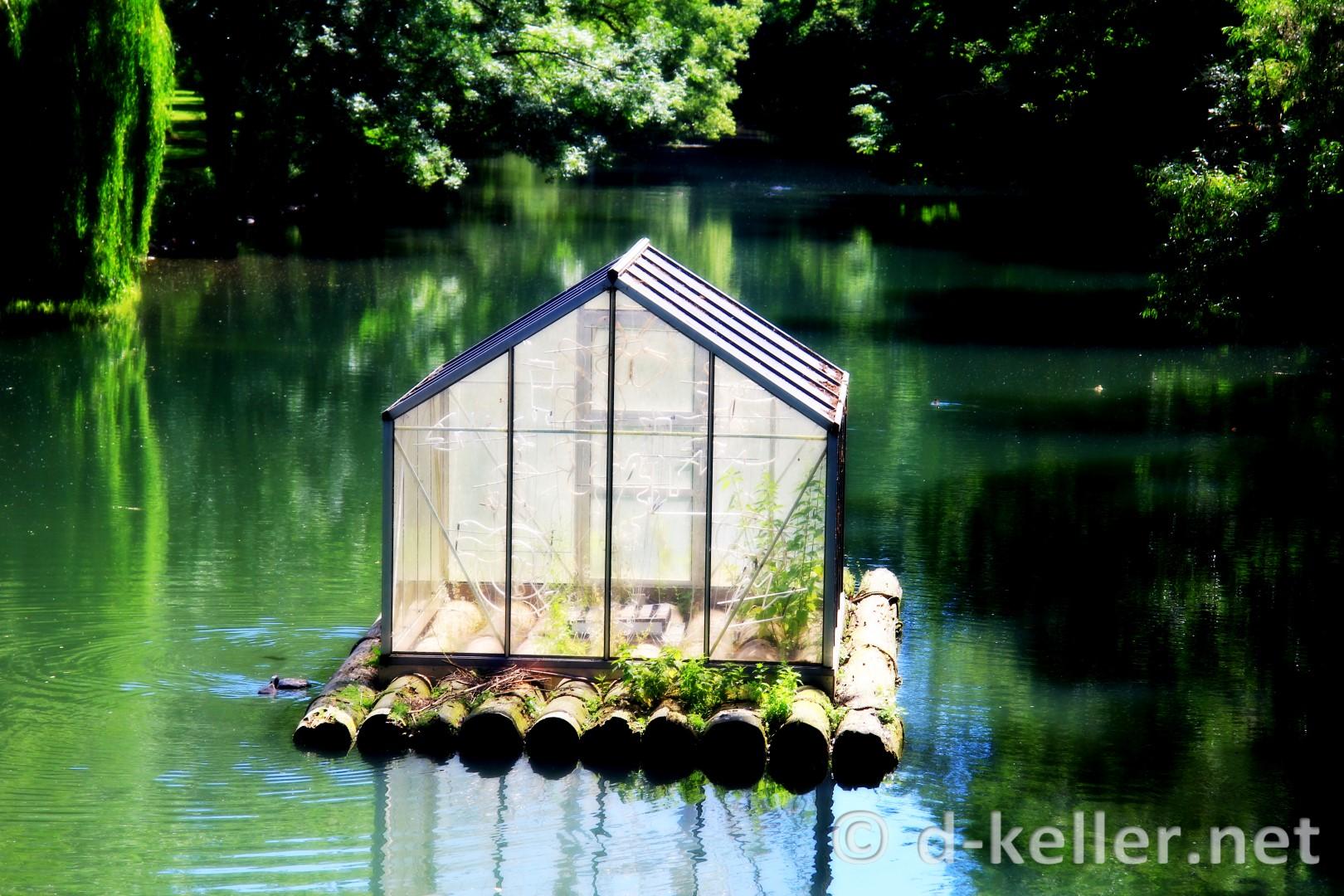 schwimmendes Glashaus