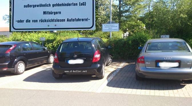 Behinderten Parkplätze
