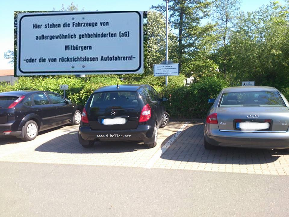 Behinderten-Parkplatz