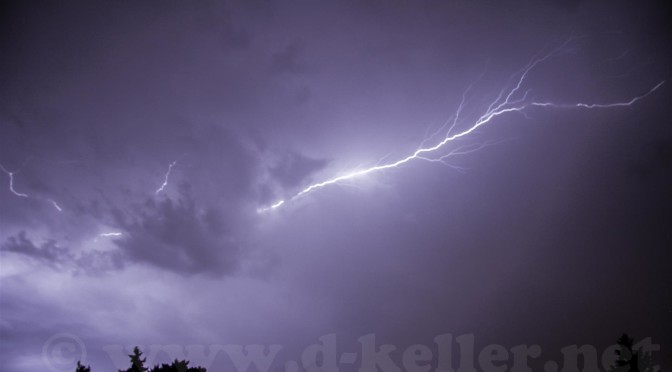 Unwetter über Rock im Park in Nürnberg