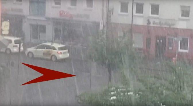 Stark-regen in Nürnberg – Gullys explodieren