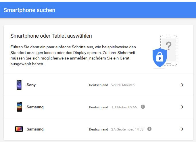 Smartphone Suchen mit Google